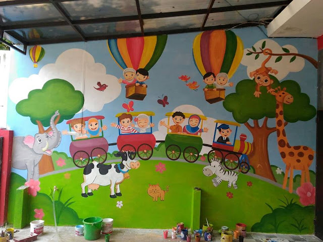 contoh lukisan mural sekolah