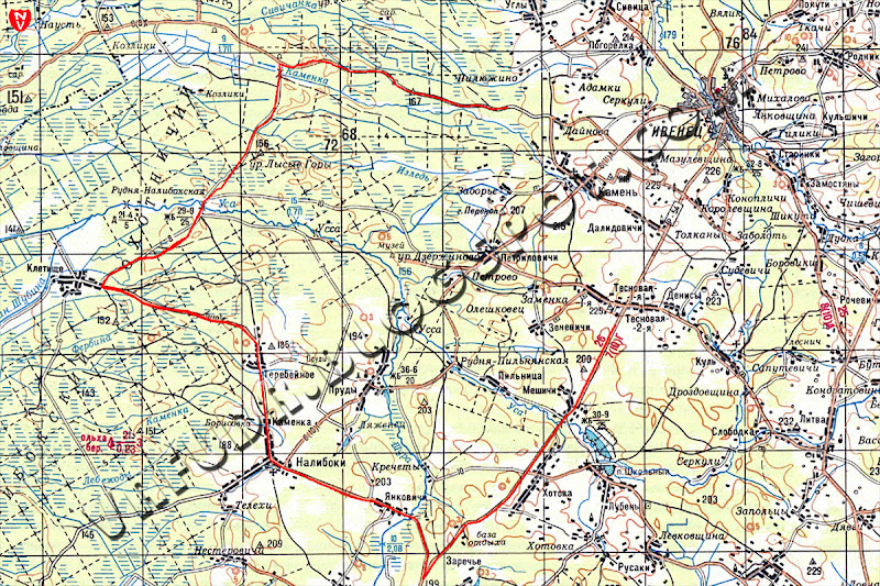 Данные с HTC Touch HD, административная карта, 2-х километровка Беларуси