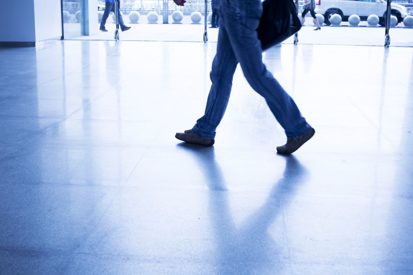 Man Walking On Floor