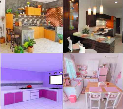 warna cat ruangan dapur rumah minimalis type 36