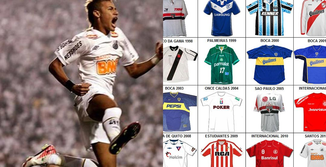 Now Argentinian Boca Juniors fan  marto m3 has created an infographic with  all the Copa Libertadores winning jerseys since 1993. b34be48bf