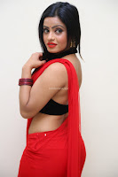 Aasma Syed in Red Saree Sleeveless Black Choli Spicy Pics ~  Exclusive Celebrities Galleries 034.jpg