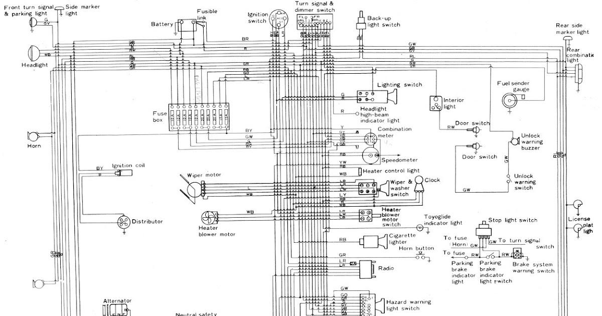 Free Auto Wiring Diagram 1974 Toyota Corolla Wiring Diagram