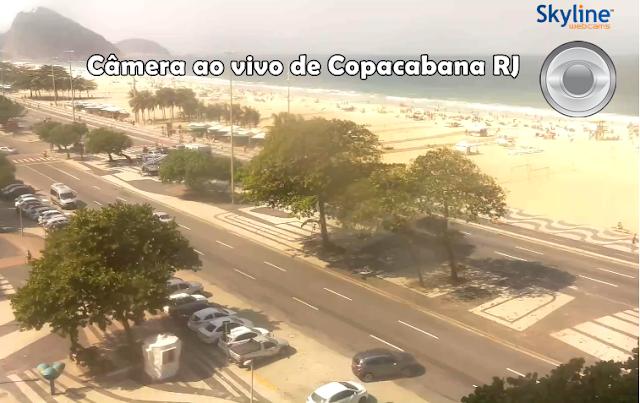 câmera ao vivo da praia de copacabana RJ