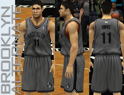 NBA 2K13 Brooklyn Nets Alternate Gray Jersey Patch