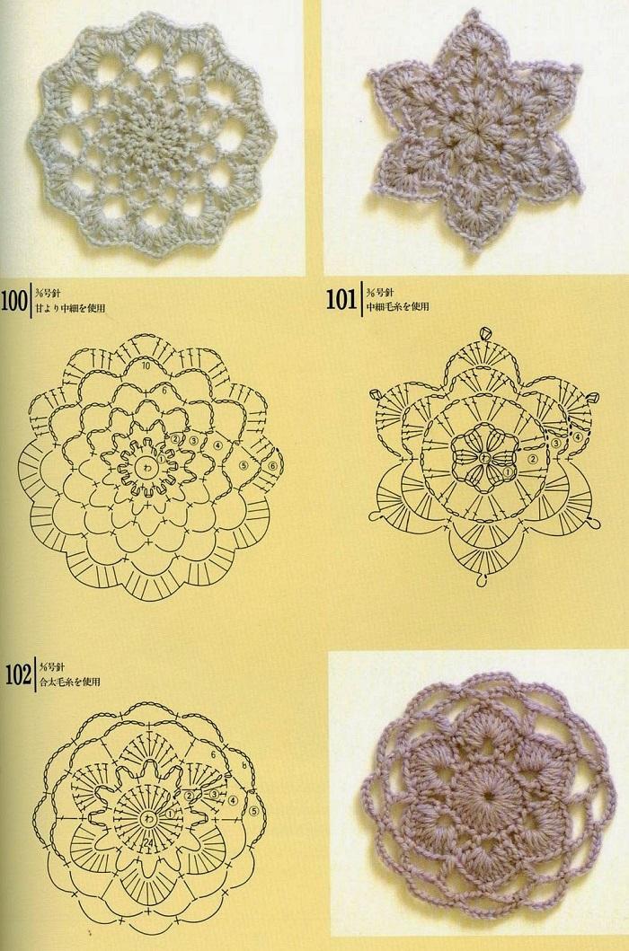 Motivos de Crochê Com Gráficos 09