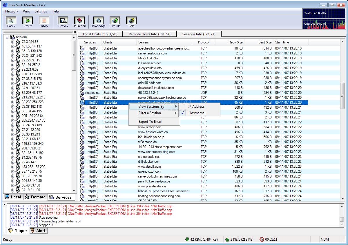 برنامج 2014 Download Switchsniffer سحب سرعة النت من الروتر