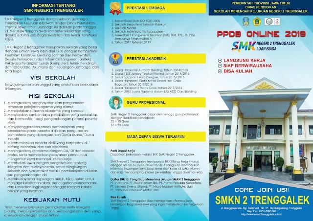 Brosur PPDB Online SMK Tahun 2019 (depan)