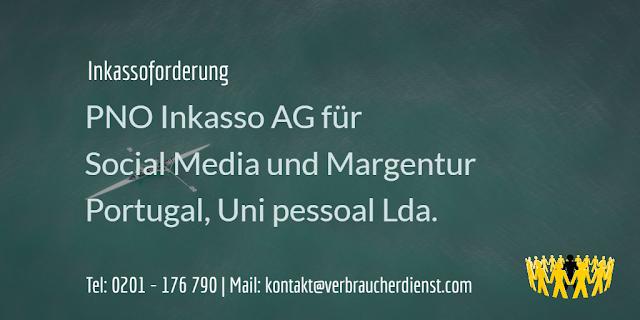 PNO Inkasso AG für Social Media und Margentur Portugal, Uni pessoal Lda.