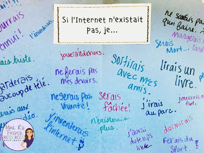Teach conditional sentences with an engaging writing activity for French class.