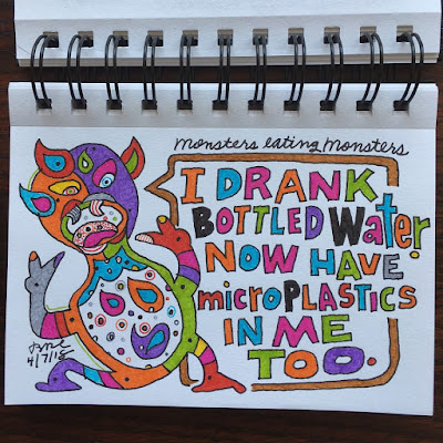 I drank bottled water. Now have microplastics in me too.