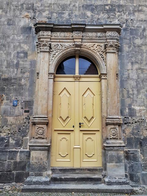 A door in the sandstone St. Blasii church