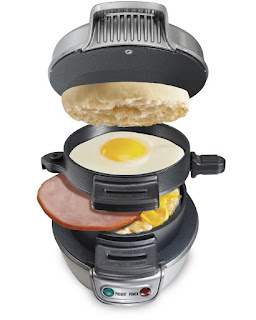 DEALS Little Kitchen, Hamilton Beach Electric Breakfast Sandwich Maker £15.99 amazon