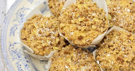 Muffins al cocco e banana