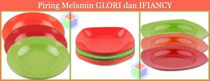 Piring Melamine GLORI dan IFIANCY di GloriMelamine