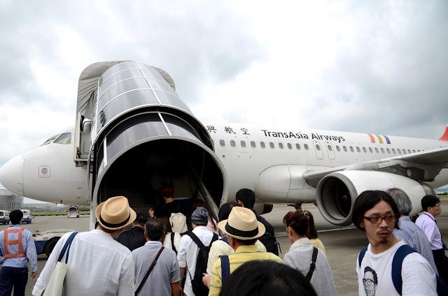 타오위안공항에서 귀국편 탑승