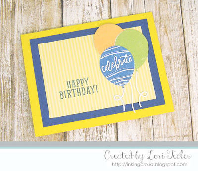Happy Birthday card-designed by Lori Tecler/Inking Aloud-stamps and dies from Concord & 9th