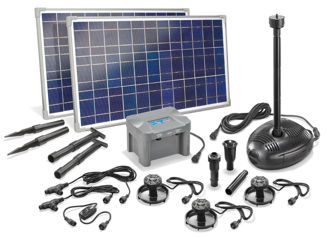 Jard n solar kit completo bomba solar para estanques con - Bomba para estanque ...