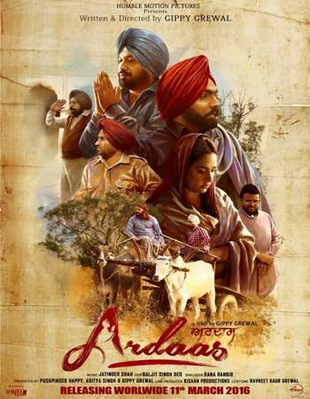Ardaas 2016 Punjabi 550MB DVDRip 720p ESubs HEVC