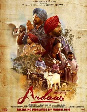 Poster Of Ardaas 2016 Punjabi 550MB DVDRip 720p ESubs HEVC Watch Online Free Download downloadhub.in