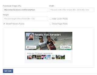 Cara Membuat Facebook Fanspage Box Versi Terbaru 2015 Di Blog