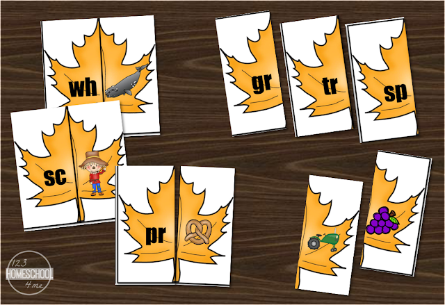 practice making blends with these fall themed learning activity identifying beginning blends