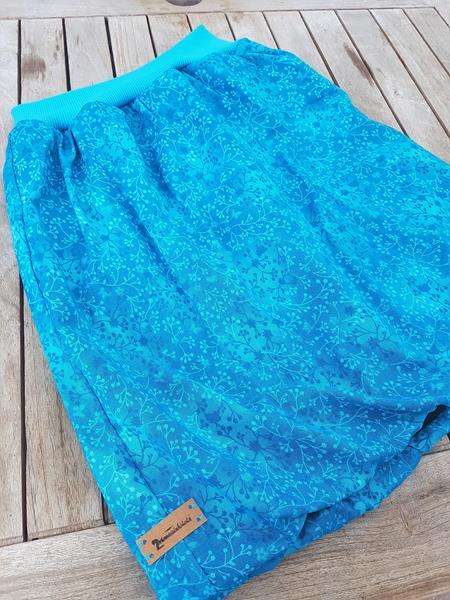 gefütterter Ballonrock in blau mit Fleece