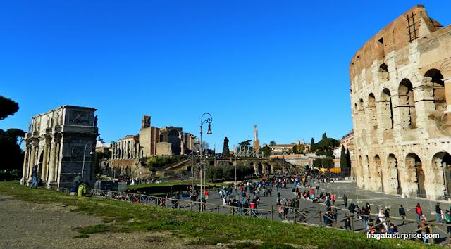Coliseu e Arco de Constantino, Roma