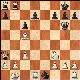 Partida de ajedrez Corrigüelas - Grau, 2020, posición después de 19...Ce1+