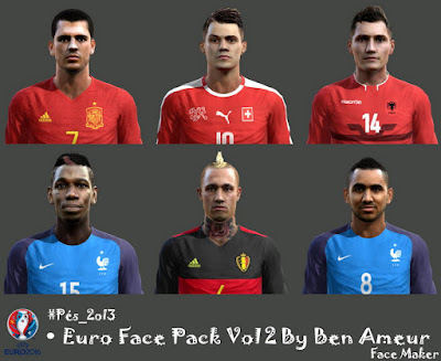 Pes 2013 Euro Face Pack Vol 2 By Ben Ameur