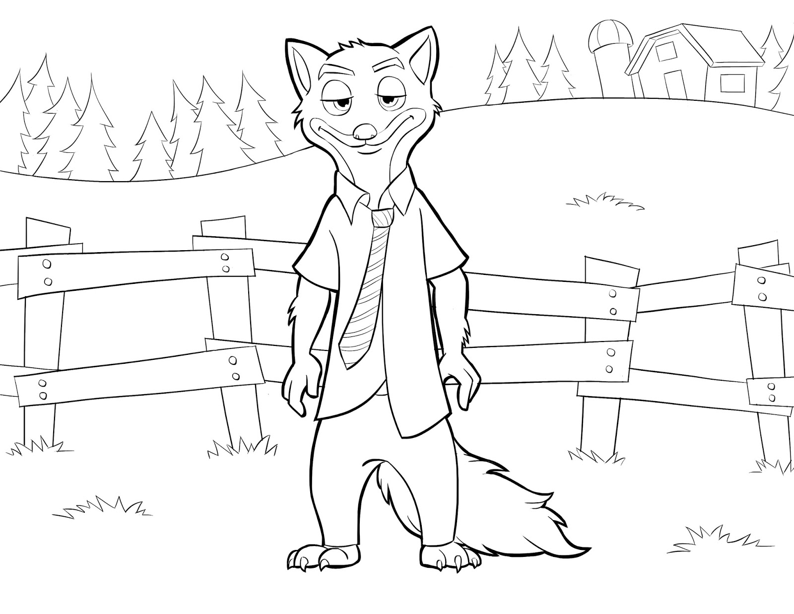 Zootopia coloring sheets - Download And Print Printables Coloring Pages From The Cartoon Zootopia