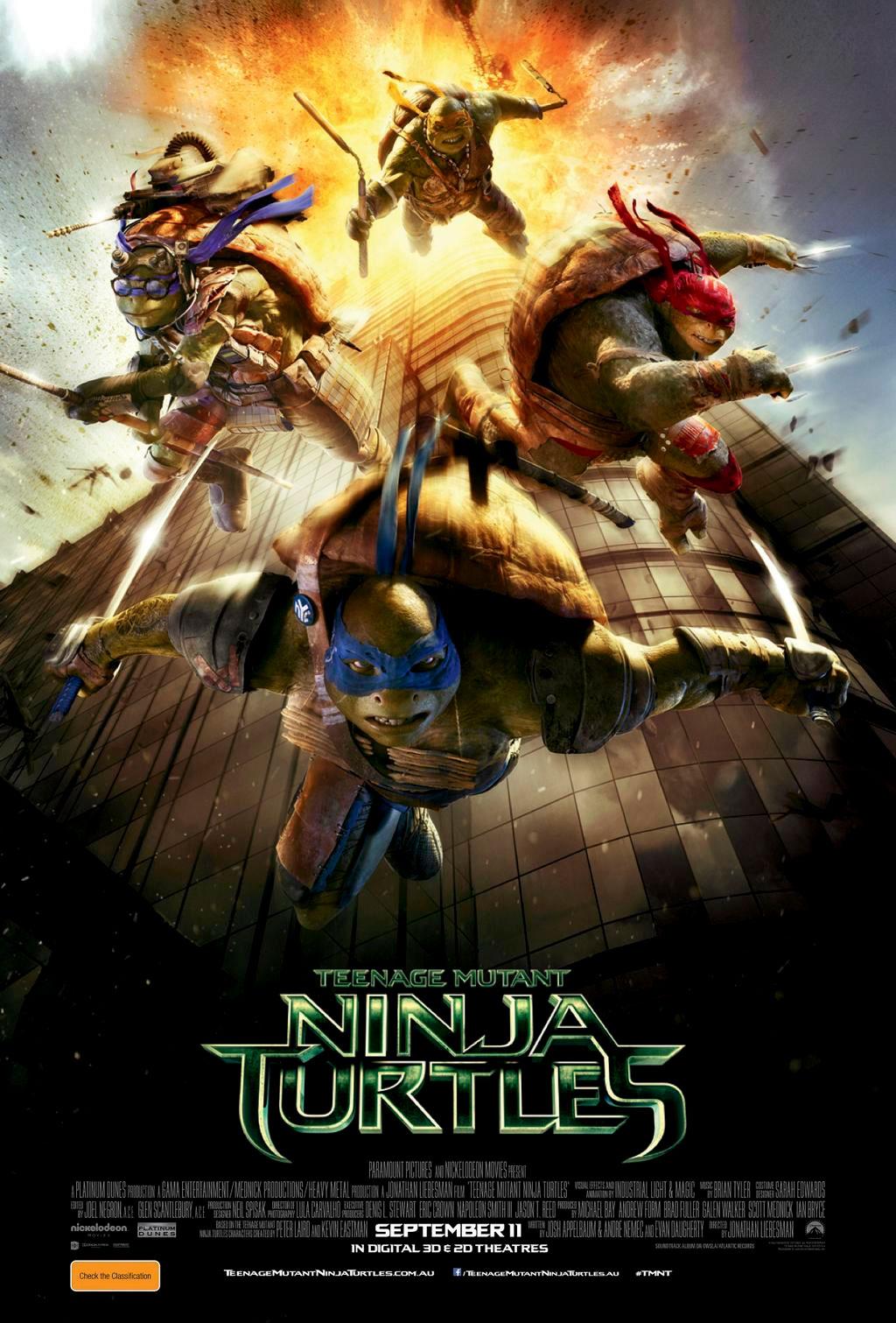wojownicze żółwie ninja film recenzja plakat megan fox