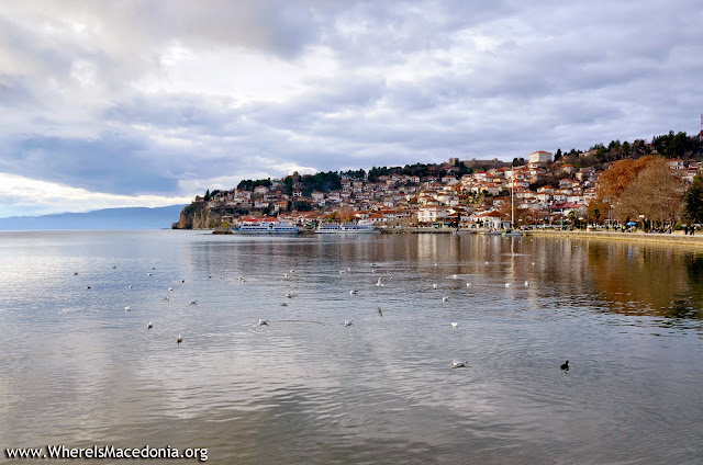 Panorama - Ohrid city with Ohrid Lake - Macedonia