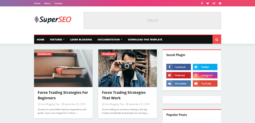 Super Seo Free Blogger Template