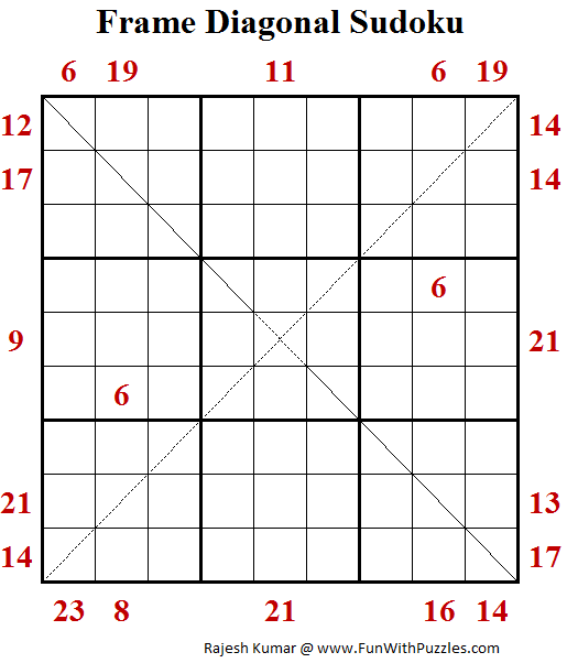 Frame Diagonal Sudoku (Daily Sudoku League #158)