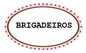 etiqueta de brigadeiro