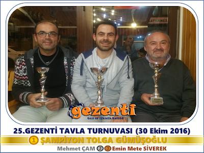 25.Gezenti Tavla Turnuvası
