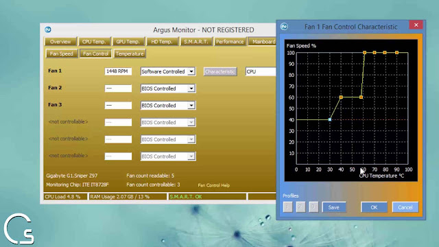 برنامج Argus Monitor معرفة ومراقبة درجة حرارة الكمبيوتر