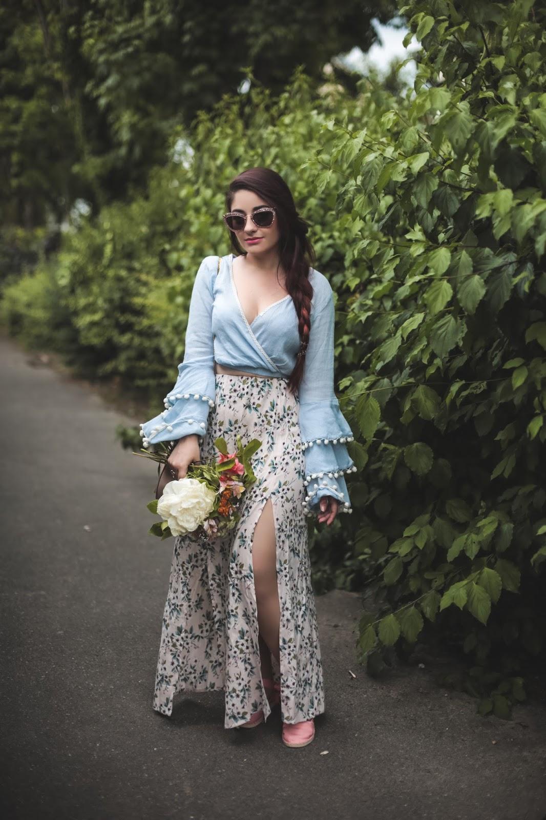 jupe longue échancrée blog mode paris