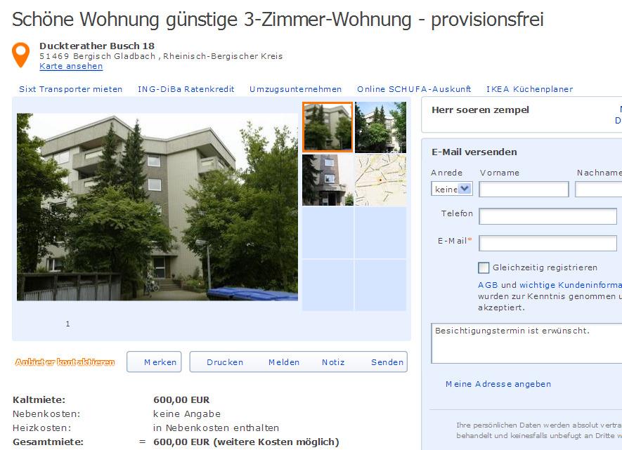 Zimmer Wohnung Bergisch Gladbach
