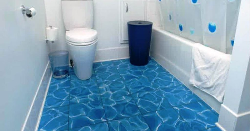 30 Keramik Untuk Kamar Mandi Warna Biru Motif Terbaru