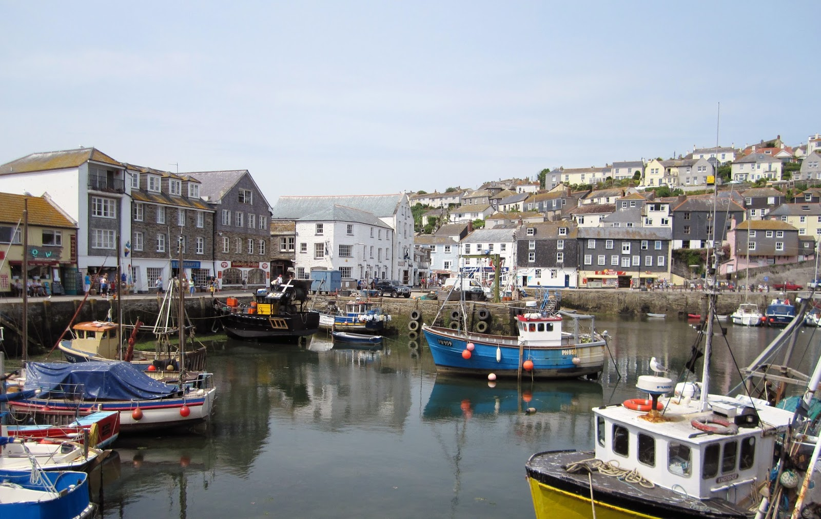 Cycle routes to Mevagissey, historic fishing village