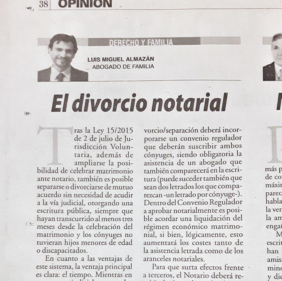 Divorcio Matrimonio Catolico Ante Notario : Luis miguel almazán abogado de familia el divorcio notarial