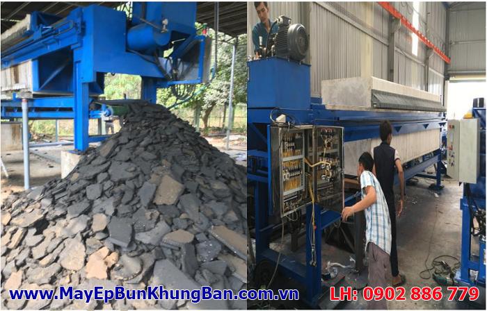 Máy ép bùn dạng khung bản sx và cấp cho nhà máy Esquel Garment Việt Nam ở Bình Dương