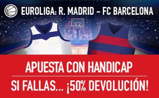 sportium promocion clasico Euroliga Real Madrid vs Barcelona 22 marzo