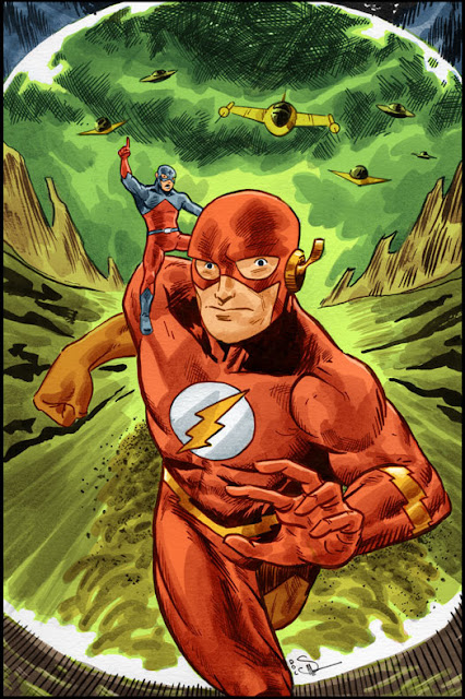Ilustraciones Superhéroe Flash