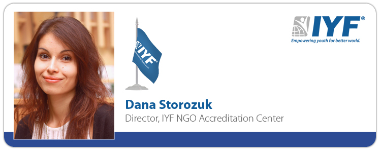 Dana Storozuk, Director IYF NGO Accreditation Center