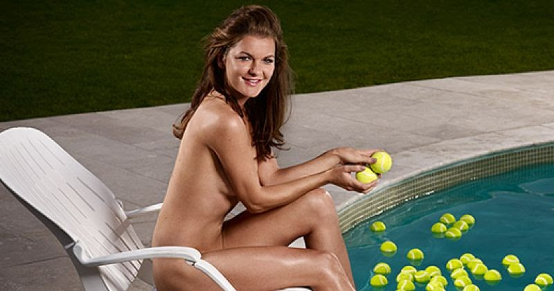 female tennis players posing nude