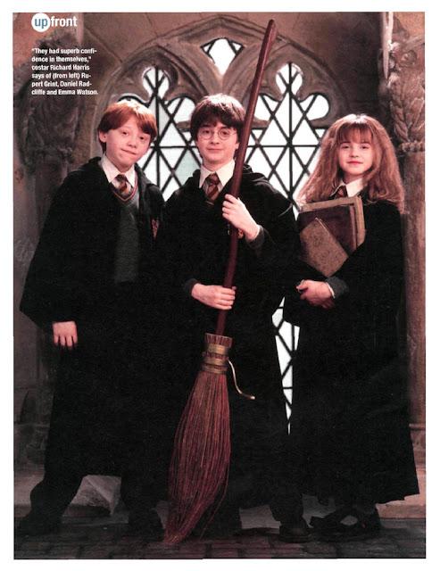 Harry Potter and the Sorcerer's Stone movieloversreviews.filminspector.com film Daniel Radcliffe Emma Watson Rupert Grint