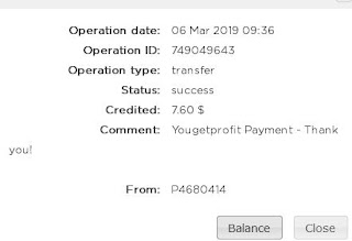 YouGetProfit Payout proof, PTC payment proof